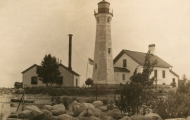 The Skillagalee lighthouse in 1915 (National Archives)