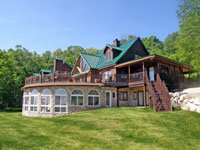 Large family vacation rental with pool and lake view
