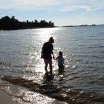 Exploring the Lake Michigan beach near Cross Village