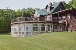 Timber Ridge Log Home Boyne City Vacation Rental With Indoor Pool
