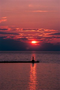 Petoskey Pier at Sunset