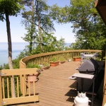 A view of Lake Michigan from the deck of Eagle View beach house rental