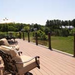 Lake Michigan views from deck at Reflections Vacation Rental