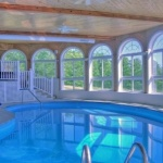 Timber Ridge Log Home Vacation Rental with indoor pool