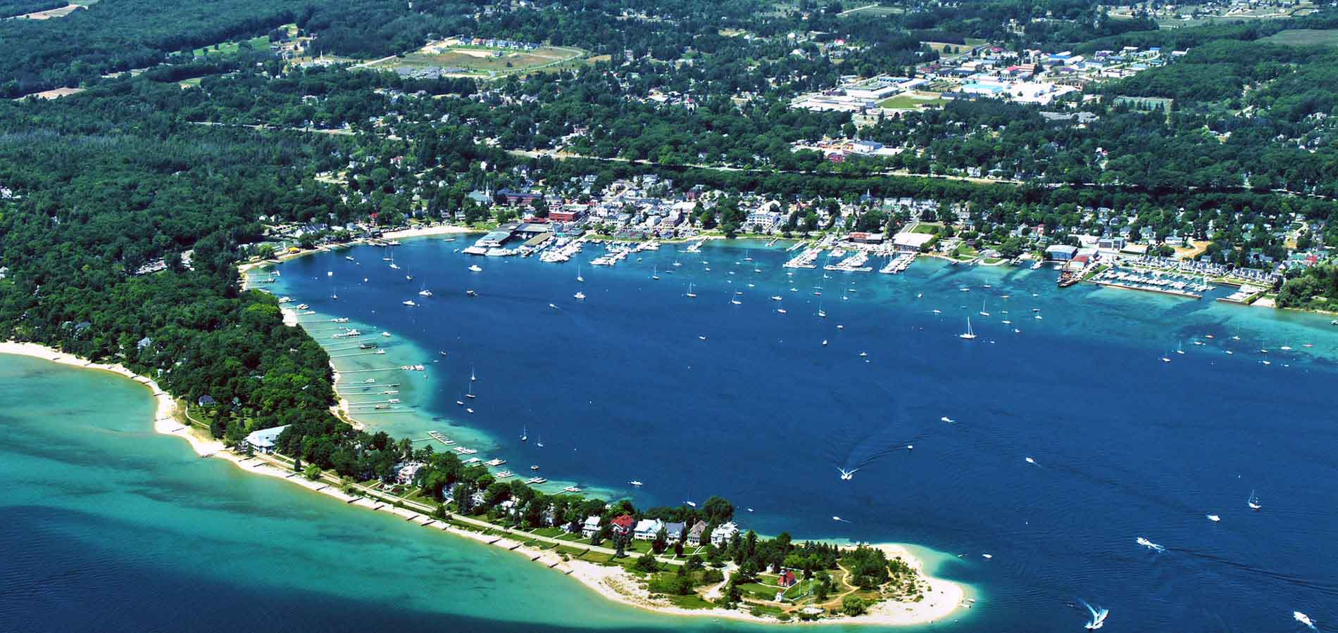 Harbor Springs aerial view