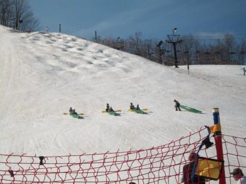 Snow Kayaking Race
