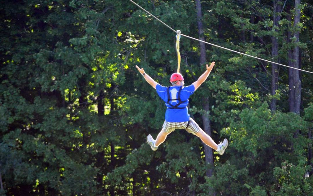 Zip Lining in Northern Michigan