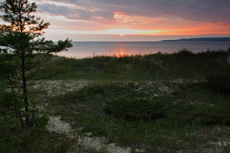 Beautiful Sunset view from Petoskey State Park,