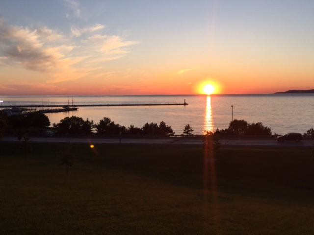 Sunset over Little Traverse Bay, Petoskey, MI