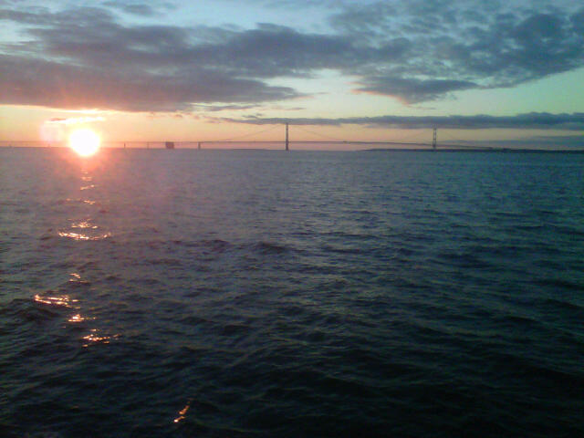 Sunset near Mackinac Bridge, Emmet County, MI