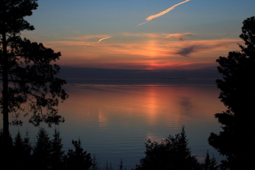 Sunset over Calm Lake Michigan, Harbor Springs, MI