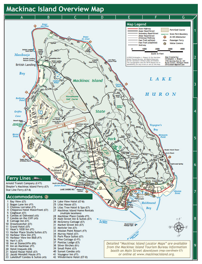 Mackinac Island Map